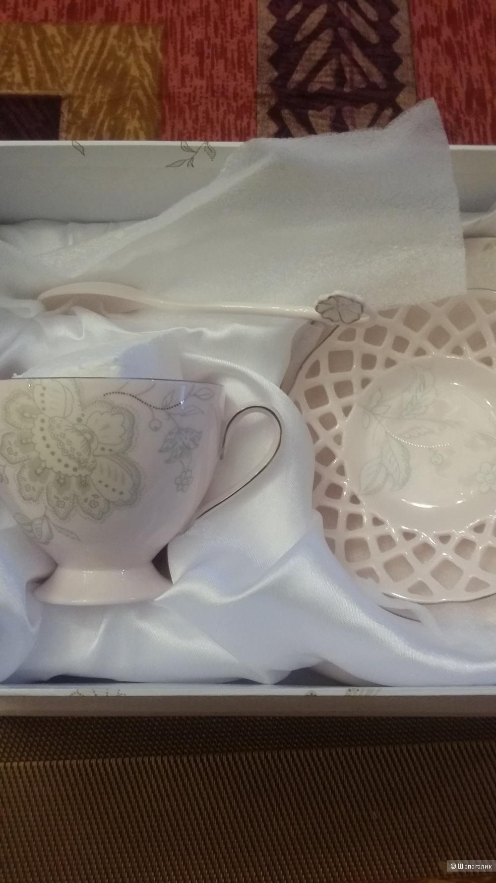 Комплект посуды  Lefard (2 шт) из фарфора пудрового цвета