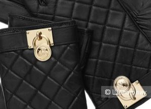 MICHAEL KORS красивые кожаные перчатки с логотипом Новые Оригинал