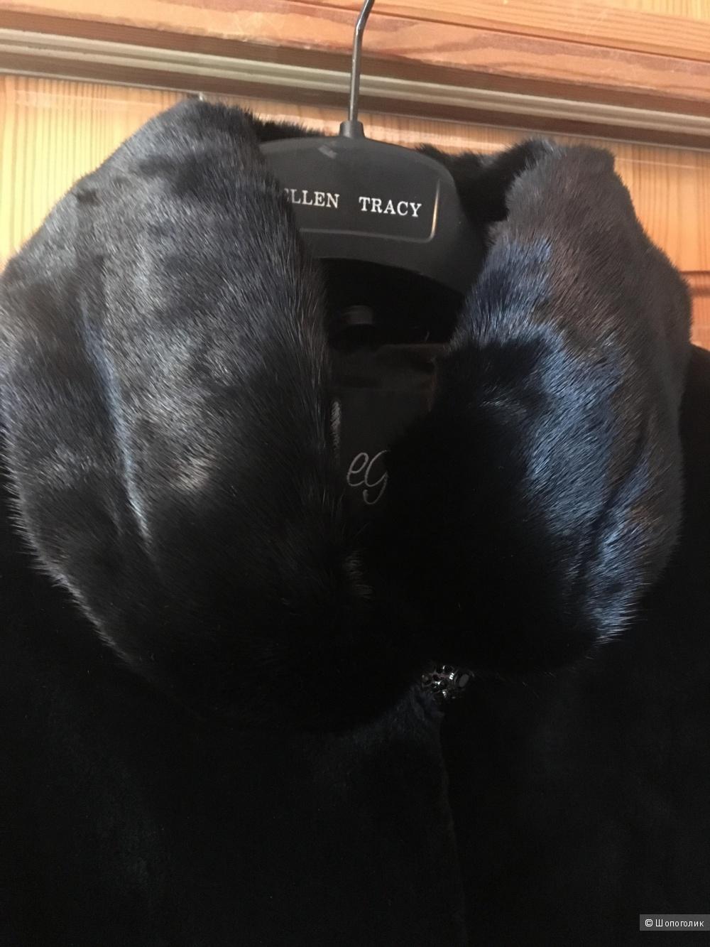 Черный норковый полушубок Select Black марки Regal размер IT40 (на российский 42-44)