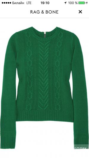 Ярко-зеленый свитер RAG&BONE размер L