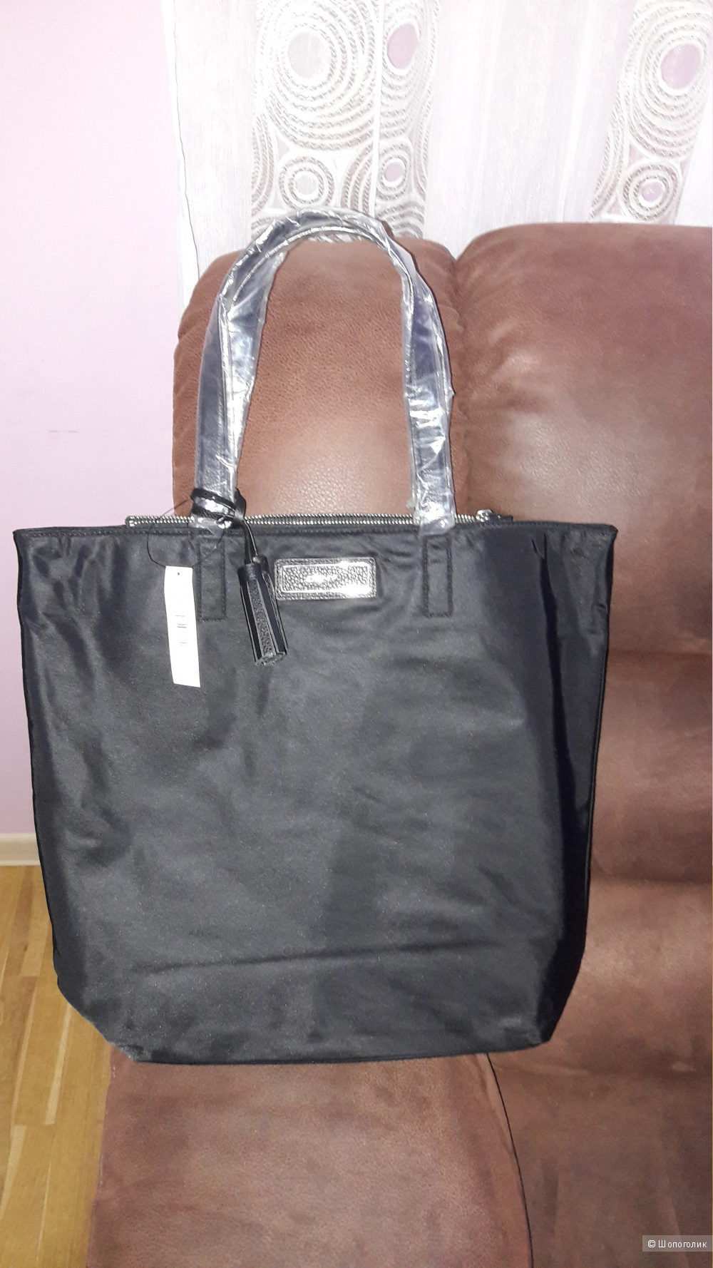 Новая сумка-шоппер  DKNY оригинал с отделкой из натуральной кожи
