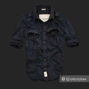 Новая джинсовая Рубашка-куртка Abercomie&Fitch XL(50)