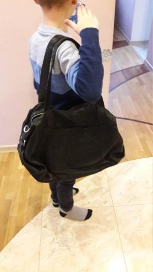 Большая сумка из натуральной кожи Италия фирма Alchimia
