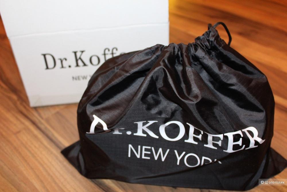 Несессер с саквояжной рамкой Dr.Koffer из натуральной кожи