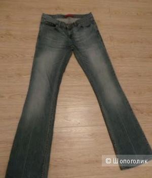 River Island, маркировка 10, тертые джинсы