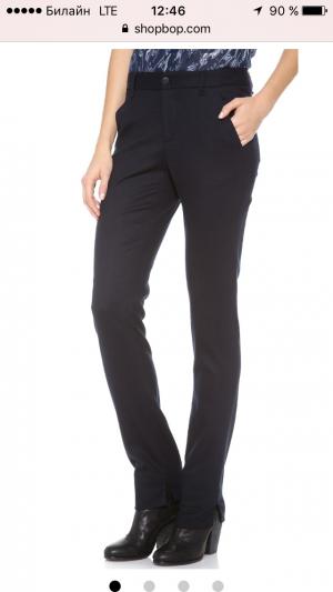 Новые шерстяные темно-синие брюки-дудочки Rag&Bone размер US10