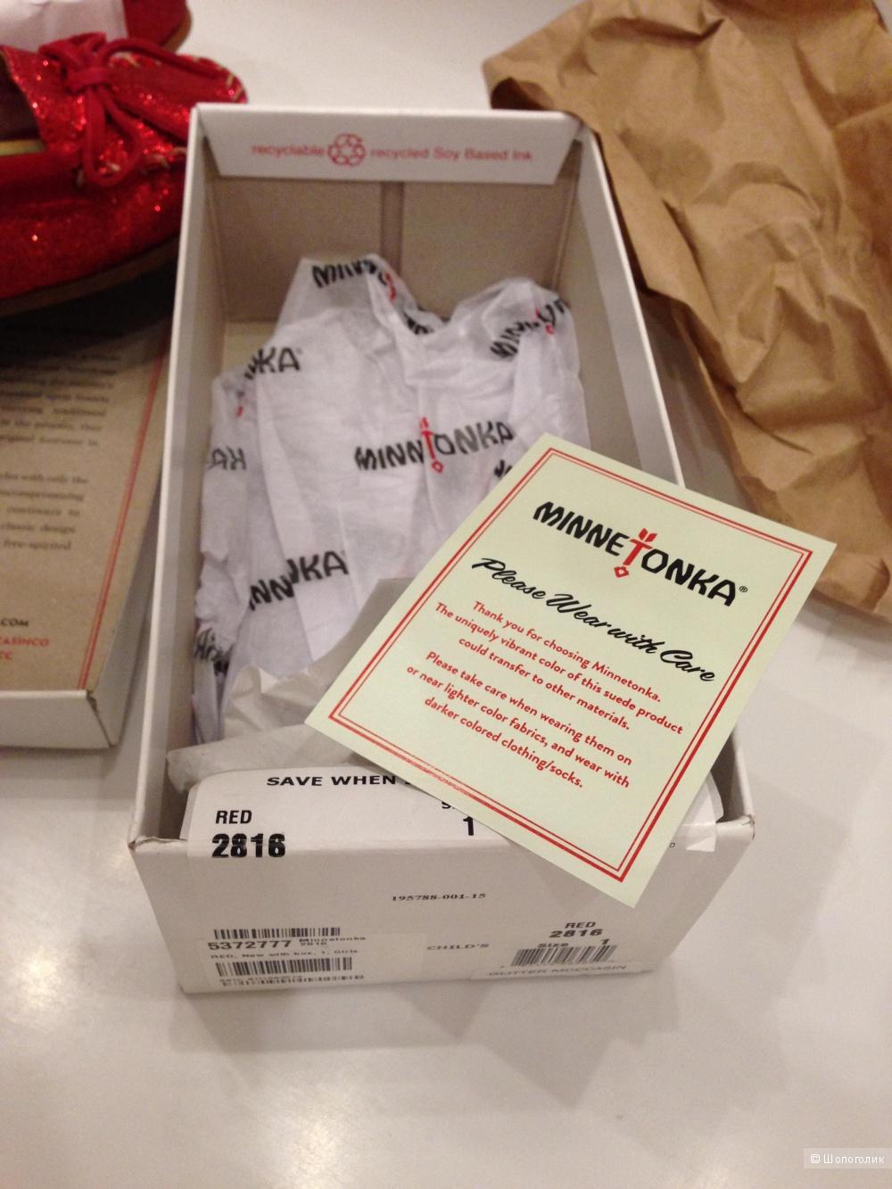 Детские брендовые мокасинки от Minnetonka для девочки Новые