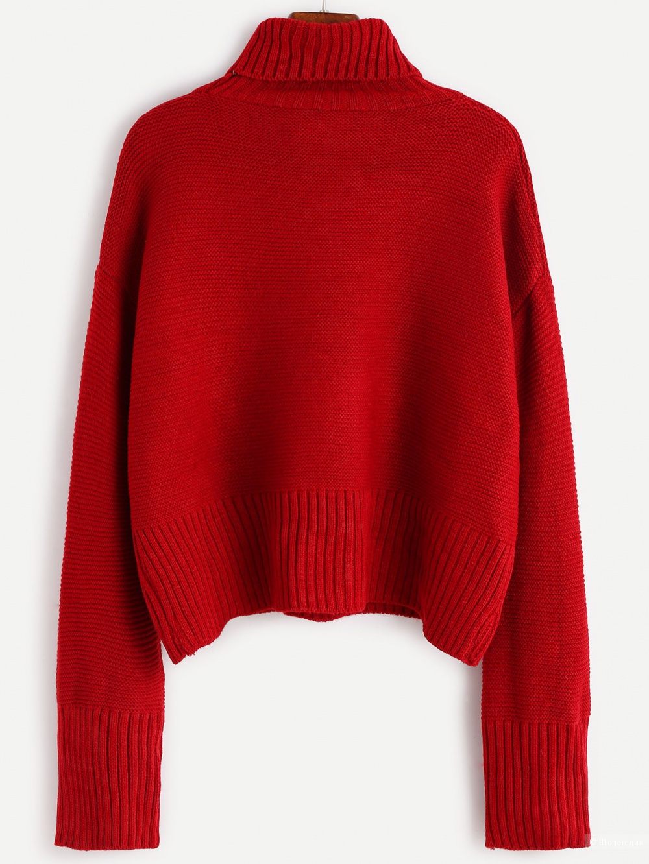 Бордовый (не красный) модный свитер SheIn