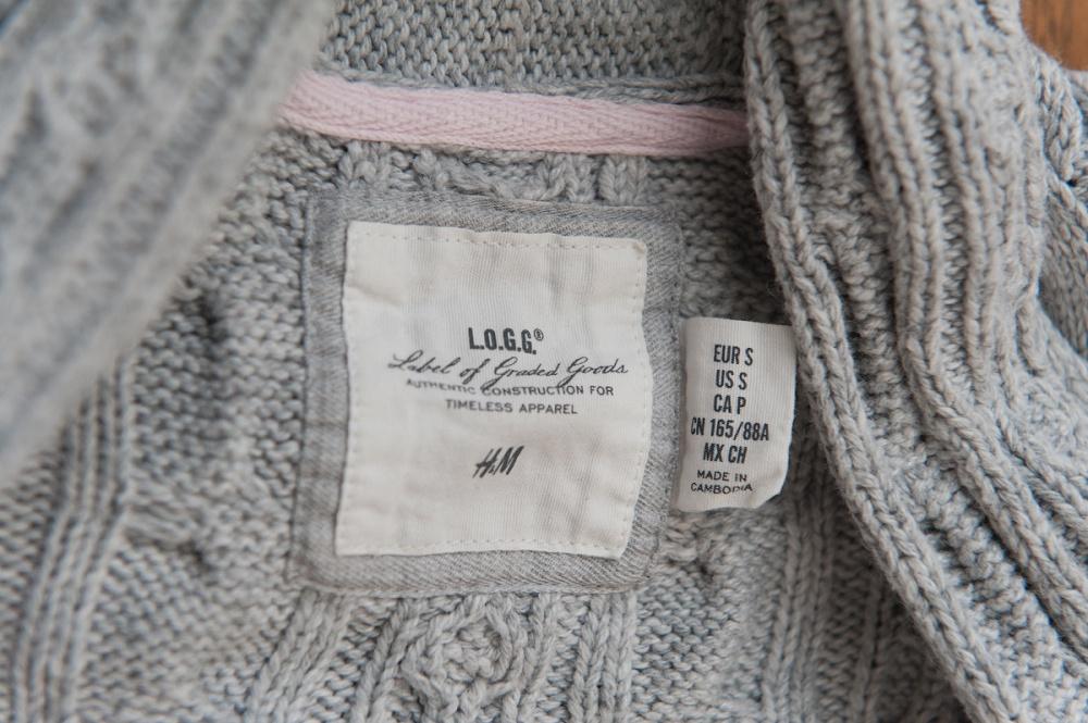 Женский вязаный кардиган H&M, размер S