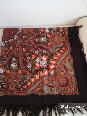 Новый павлопосадский платок,шерсть 100%