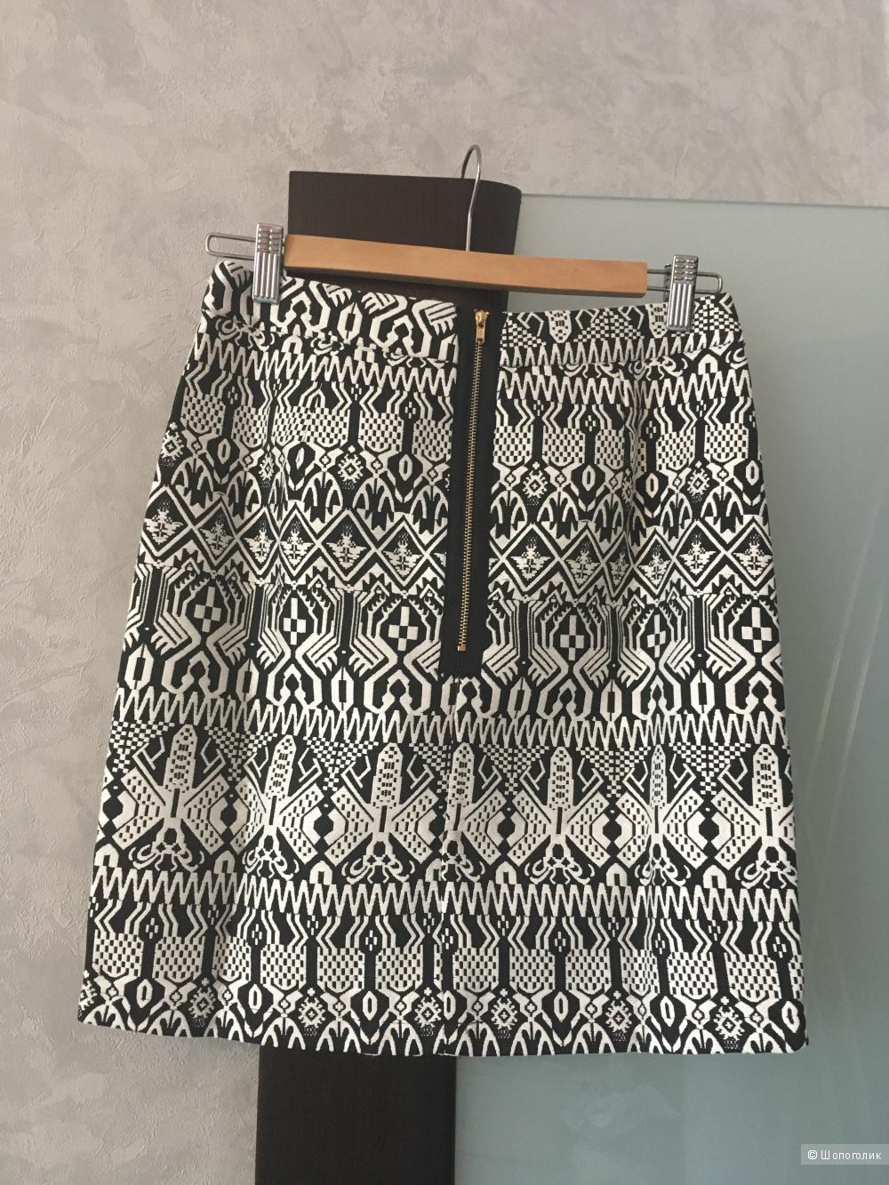 Юбка с геометрическим принтом Madam Ragе, c ASOS, размер GB 10, новая с этикетками