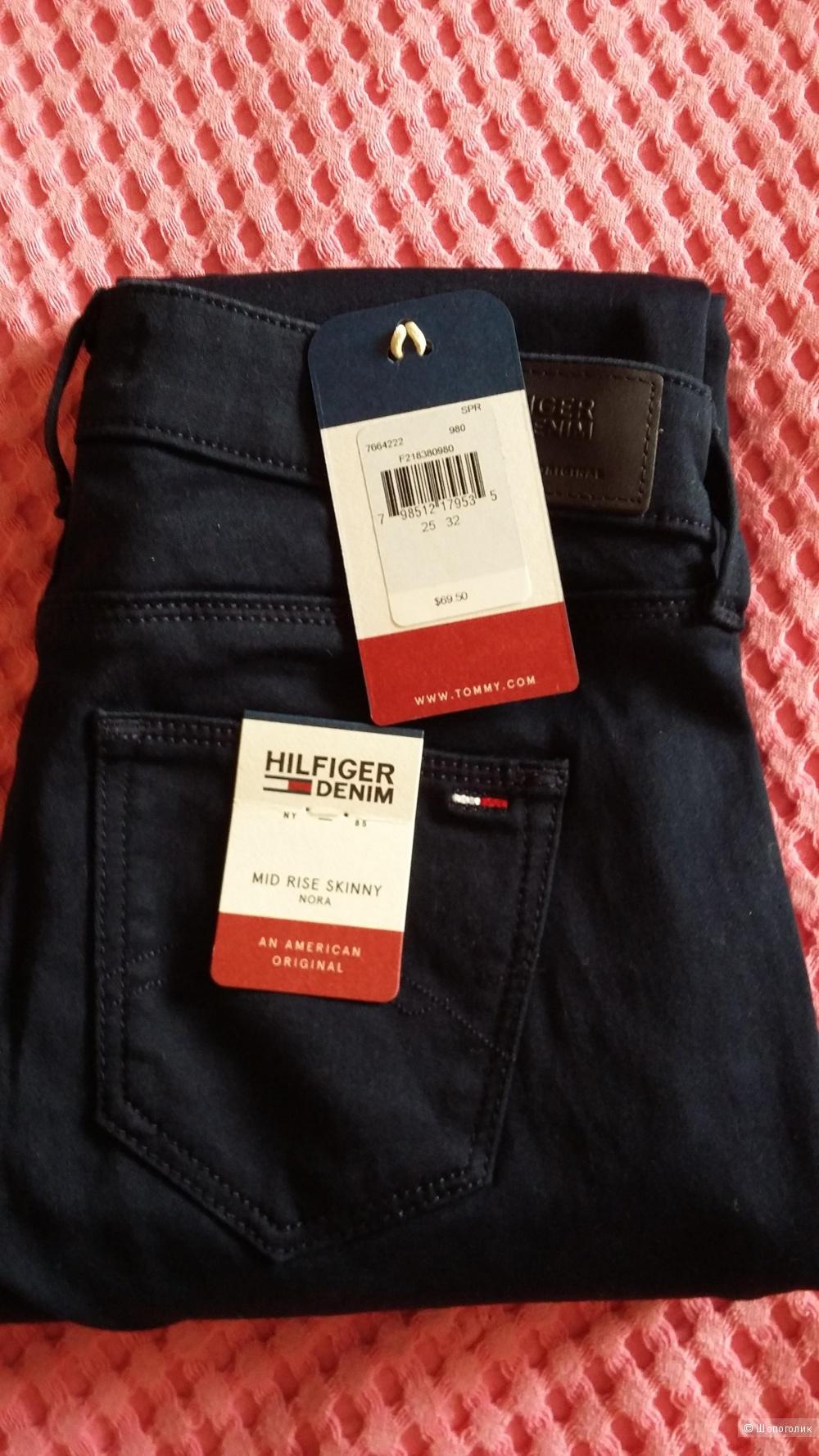 Джинсы Tommy Hilfiger, тёмно-синие, р-25-32.