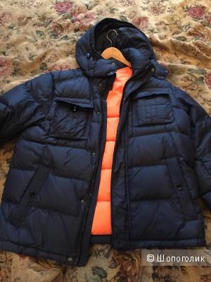 Пуховик мужской tommy hilfiger, размер l, синий
