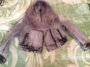 Джинсовая укороченная курточка,42-44р-р