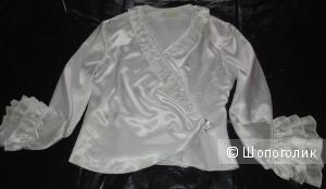 Блузка белая 44-46 р. Можно как театральный костюм
