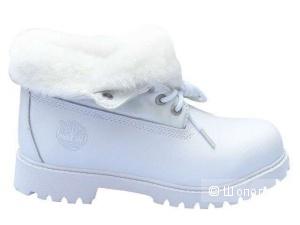 Новые с ярлыками ботинки  timberland  белые 36