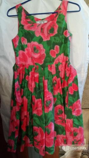 Красивое летнее платье 100% хлопок 40-42 размера