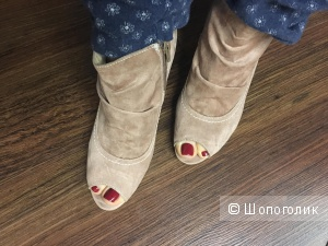 Ботинки с открытым мыском