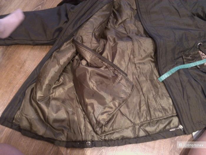 Куртка большого размера, утепленная, 52,54,56