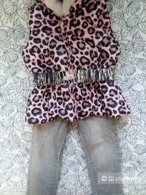 Жилет и джинсы на ребёнка 1-1,5 года