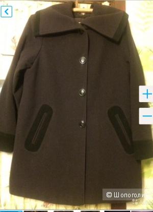 Пальто Kiabi с шарфом, размер по замерам