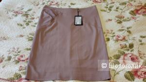 Красивая юбка-карандаш серо-розового цвета на подкладке Charuel размер 52 (на 50-52)