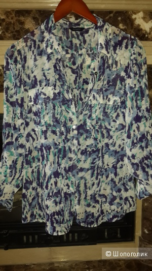 Красивая сине-бирюзовая блуза рубашка Autograph размер 10
