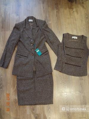 Женский костюм, тройка, 44-46
