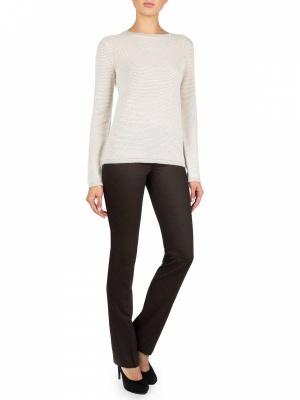 Классные дизайнерские брюки с шерстью Charuel цвета темно-коричневый размер 50