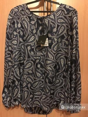 Новая шёлковая блузка на пуговицах Massimo Dutti р.40 (L)