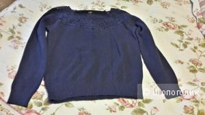 Джемпер синий Zolla размер М на 46-48 новый с шерстью