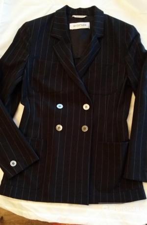 Классический двубортный пиджак SPORTMAX 44-46 размера