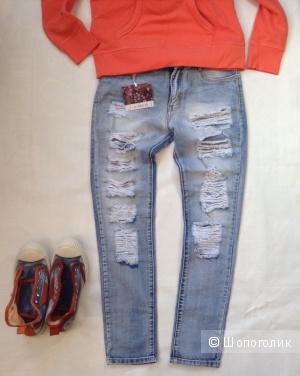 Итальянские женские  джинсы Glamour, размер 42