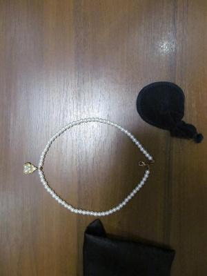 Бусы жемчуг из культивированного (натурального) жемчуга на замочке