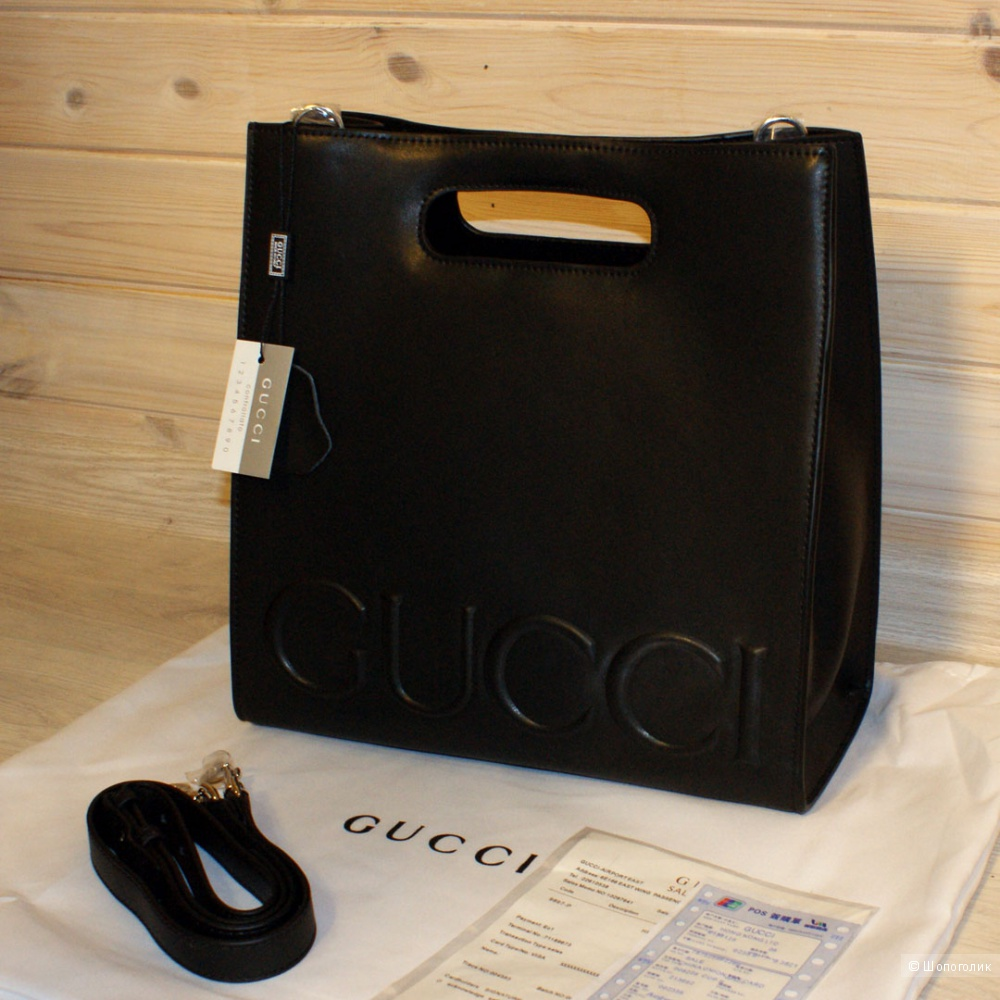 Сумка GUCCI XL LEATHER TOTE
