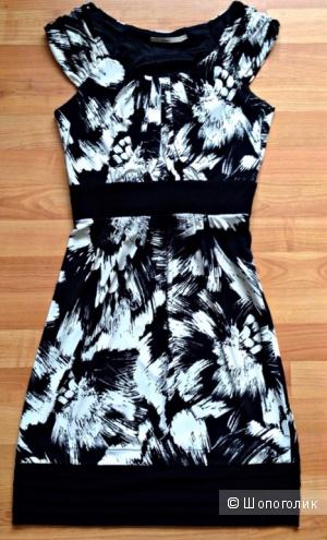 Черно-белое платье Alain Manoukian р. S