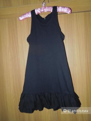 Платье-борцовка для дев. 10-13 лет Benetton х/б  нов.