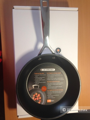 Новая сковорода с антипригарным покрытием в диаметре 22 см  французского бренда le creuset