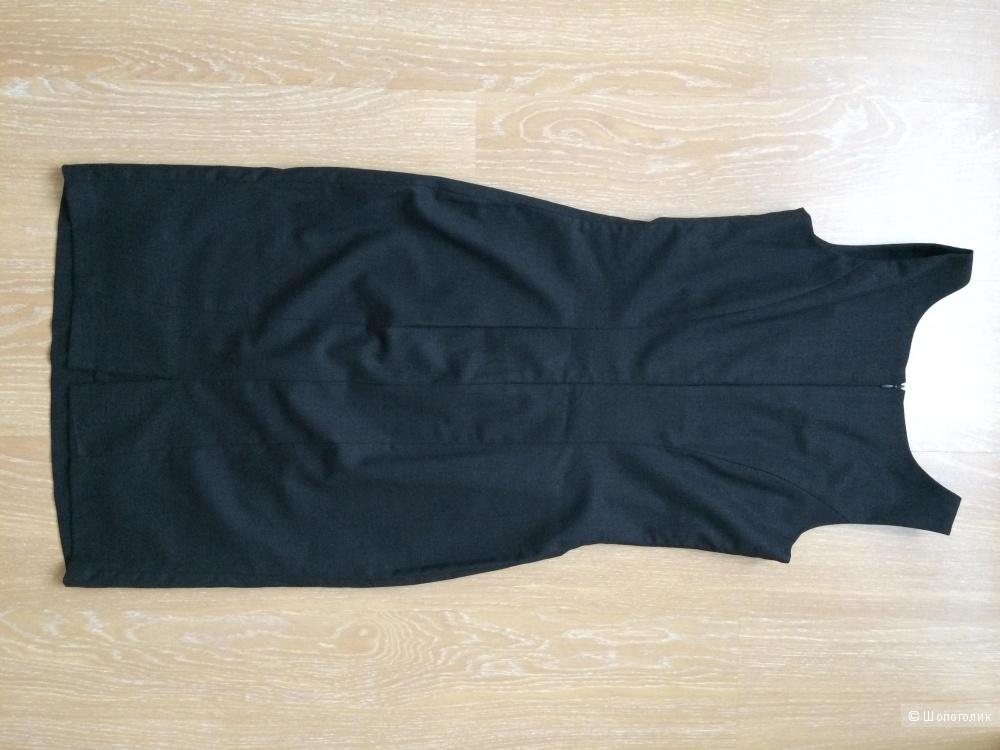 Офисное платье из костюмной шерсти