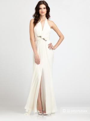 Новое шелковое свадебное\вечернее платье Marchesa Notte, росс. размер 42