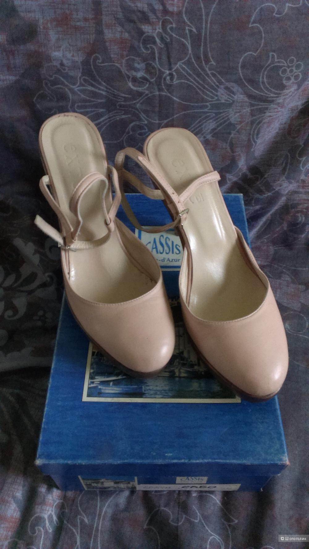 Бежевые оригинальные туфли\босоножки