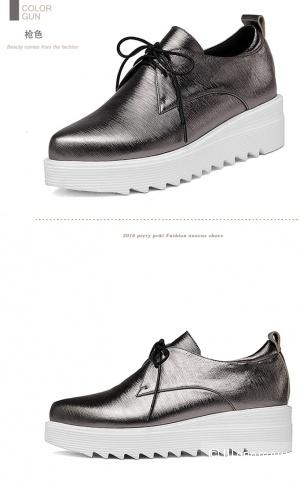 Ботинки стального цвета 36 размера