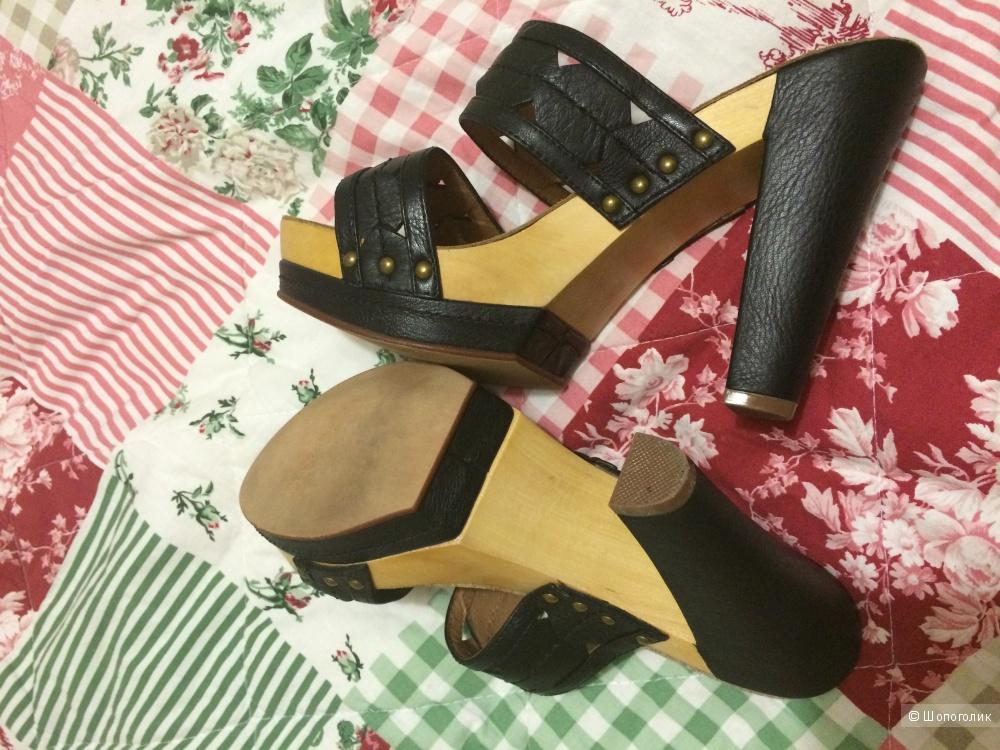 Новые кожаные босоножки испанской марки Biviel, размер 37-37,5