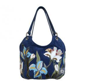 Красивая кожаная женская сумка,