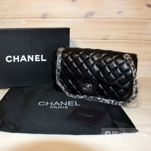 Сумка Chanel Black Quilted Lambskin Medium Classic Double