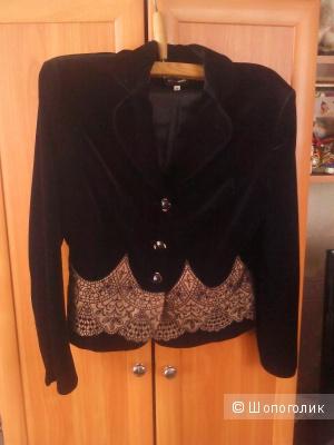 Велюровый пиджак пр-ва Польши размер 48