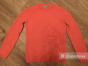 Кашемировый свитер коралл р. 40 (S)
