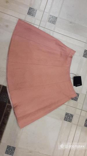Кожаная розовая юбка Muubaa