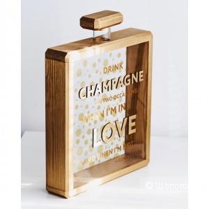 Копилка для пробок от шампанского / вина. Розовое золото.