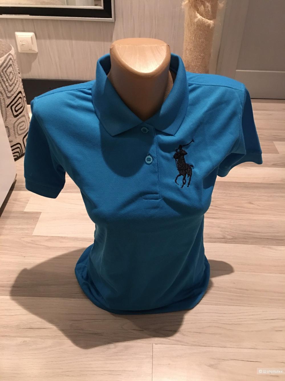 Футболка ralph lauren,цвет голубой,размер М и черный,размер ХL,копия,новые